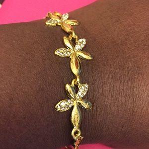Gold Heart Link Chain Bracelet